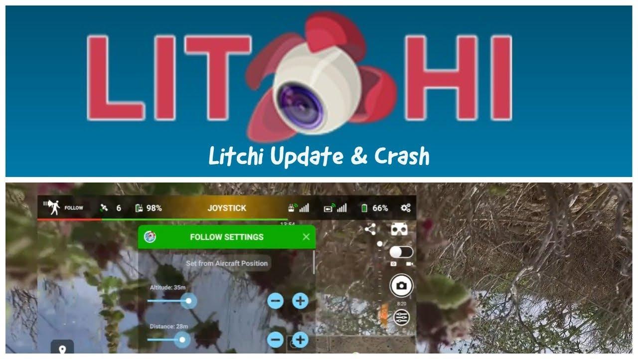 Litchi update and test flight