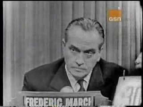 Fredric March on What's My Line?