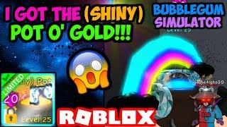 I TRADED MY ENTIRE INVENTORY FOR A (SHINY) POT O' GOLD!! (Bubble Gum Simulator Roblox)