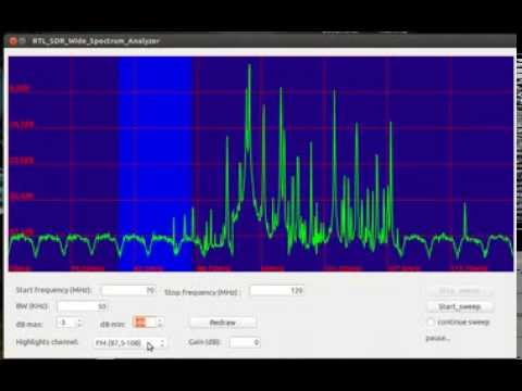 RTL_SDR Wide spectrum analyzer