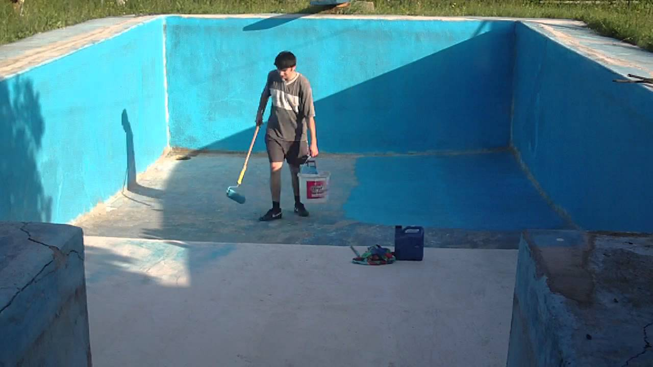 Painting The Swimming Pool Youtube