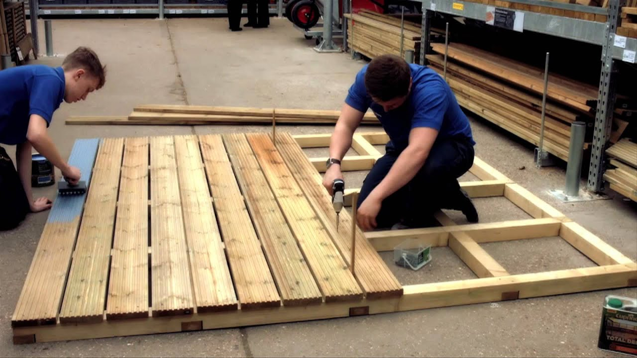 doing up your decking with wickes youtube. Black Bedroom Furniture Sets. Home Design Ideas