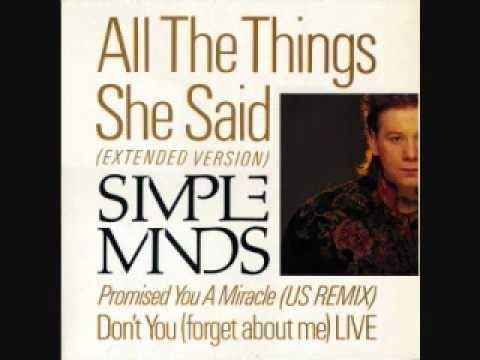 Simple Minds 'Promised You A Miracle' (US Remix)