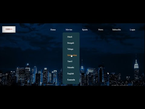 How To Make Drop Down Menu Using HTML And CSS | How To Make Drop Down Menu In Html And Css