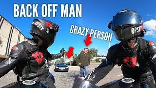 BIKER FIGHTS BAD DRIVERS & TRAFFIC ON WAY TO GET COFFEE | RPSTV