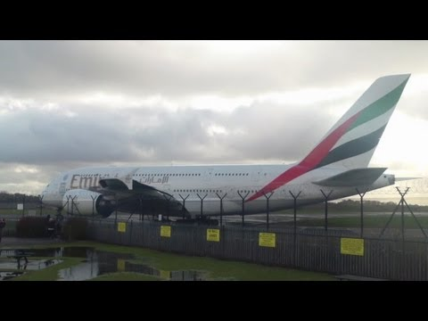 Emirates A380 A6-EDF (EXPO 2020 DUBAI UAE livery) Takeoff | 23R EGCC/MAN | 14th February 2013