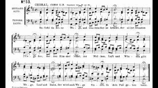 Bach BWV 244-53 Befiehl du deine Wege