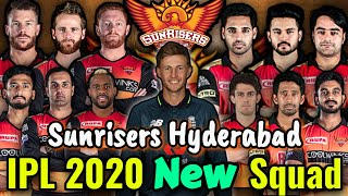 IPL 2020 Sunrisers Hyderabad Final and New Squad | SRH confirmed squad | SRH Players List 2020