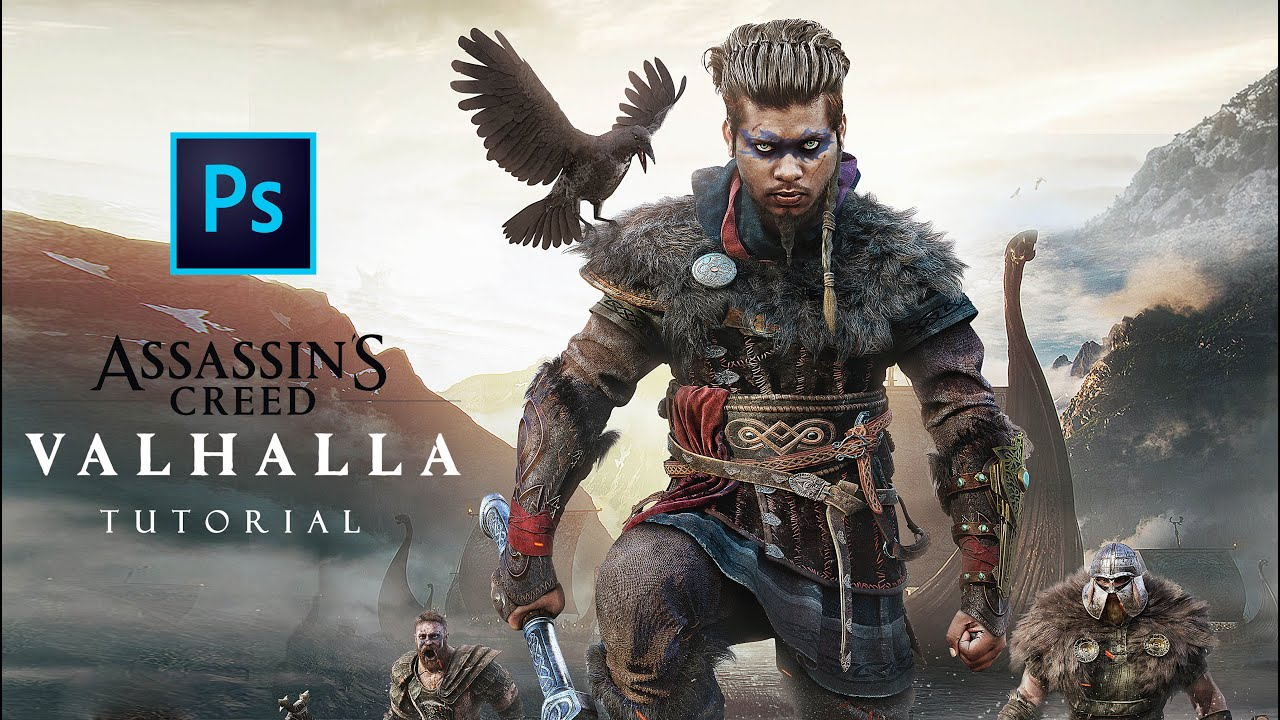 Assassins Creed Valhalla Official Poster Design Tutorial Sony Jackson New Concept Photo Editing Youtube