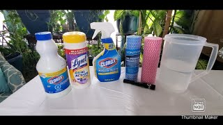 How to make Clorox wipes and Sanitizer