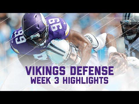 Vikings Defensive Highlights (Week 3)   Vikings vs. Panthers   NFL