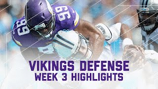 Vikings Defensive Highlights (Week 3) | Vikings vs. Panthers | NFL