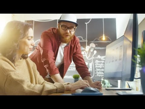 Woman Developer Works on Her Personal Computer Designing Mobile Gaming App | Stock Footage -