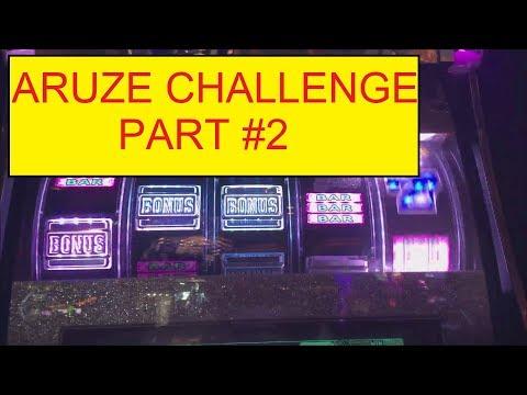 ARUZE $300 CHALLENGE PART #2 VS ALBERT SLOT AND SLOT TRAVELER!