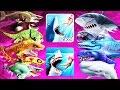 Hungry Shark Evolution vs World - All Max Sharks In Both Games (Heidi)