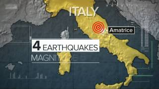 Four Strong Earthquakes Hit Central Italy