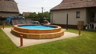 Stavba bazénu