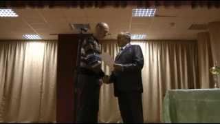Вручение золотых медалей  команде  - ДГЭМЗ 2012 г.