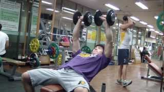 Incline Dumbbell Press 15kg*10