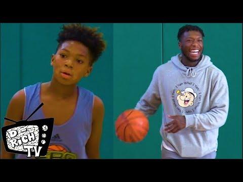5th Grader Nyale Robinson Has SERIOUS RANGE! - Father Nate Robinson Approves!