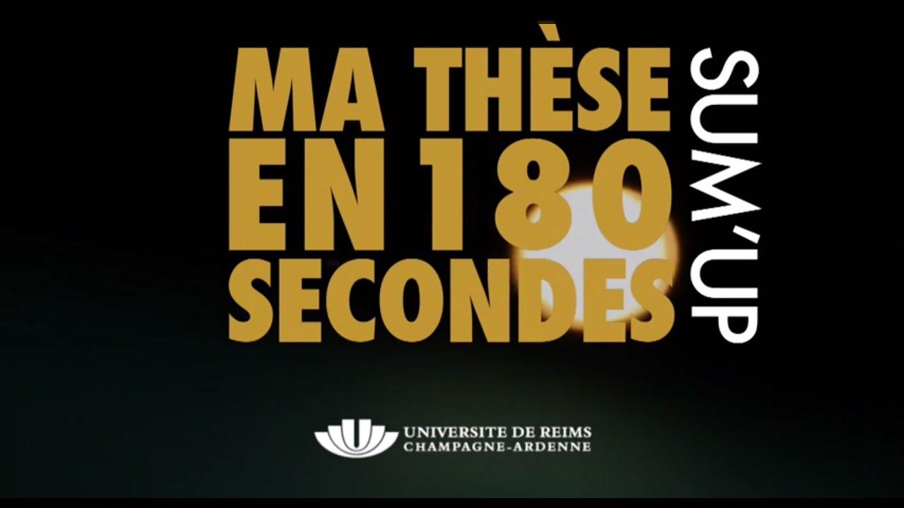 Ma th se en 180 secondes sum 39 up universit de reims - Universite reims champagne ardenne bureau virtuel ...