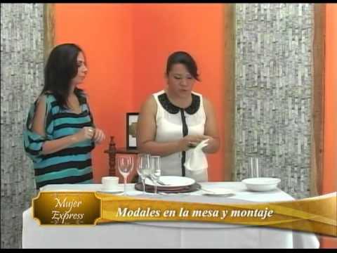 Modales en la mesa, Montaje básico de mesa y Jet El Salvador