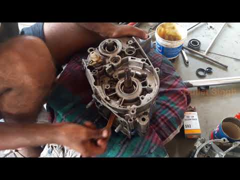full engine fitting yamaha rx 100  - bullet singh boisar