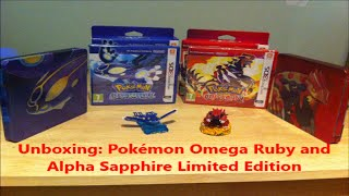 Unboxing: Pokémon Omega Ruby and Alpha Sapphire Limited Edition