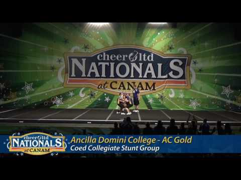Ancilla College Cheer - AC Gold - Coed Collegiate - Canam 2017