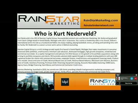 """Working Capital Solutions for NPN and Real Estate Investors""- Kurt Nederveld"