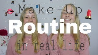 Make-Up Routine in real life I Finja and Svea