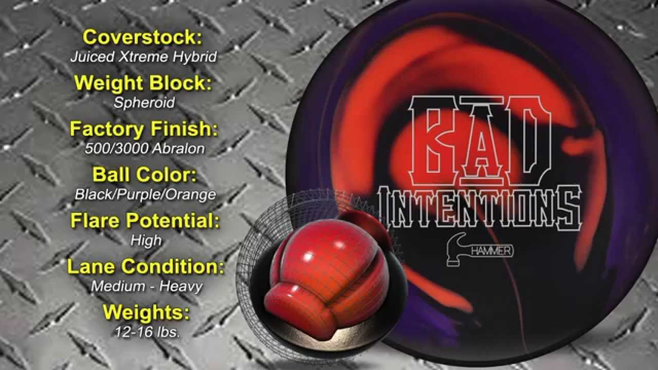 Bowlingball Hammer Bad Intentions Hybrid Bowling Ball Reaction Video Review You