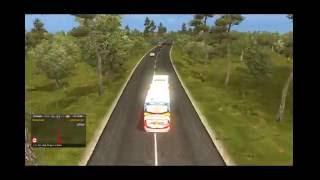 Euro Truck Simulator 2 Bus Mod Indonesia: Akas Asri Ngeblong Santai Madiun - Solo