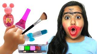 شفا خربت مكياج ماما !! pretend play makeup