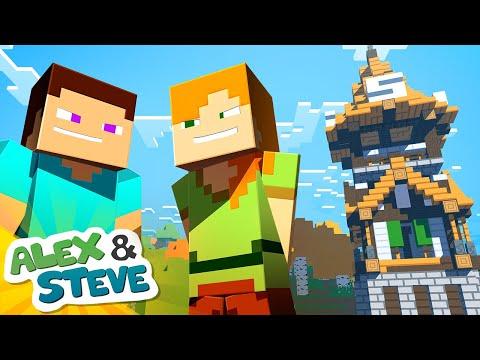 BUILD BATTLE | The Minecraft Life of Alex & Steve | Minecraft Animation