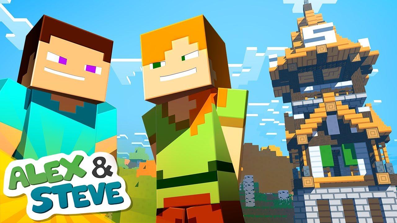 minecraft steve and alex