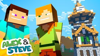 Download Video 🔨 BUILD BATTLE | The Minecraft Life of Alex & Steve | Minecraft Animation MP3 3GP MP4