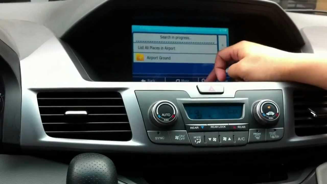 honda odyssey pilot gps integration navigation demo  youtube
