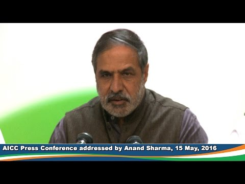 AICC Press Conference | 15 May 2016