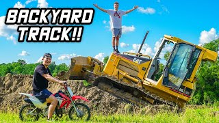 Building Backyard Pit Bike Track!!