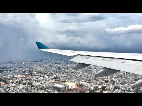 SAIGON VIEWS | Vietnam Airlines A330 Landing in Ho Chi Minh City, Vietnam