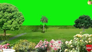 How to create green garden png video green screen