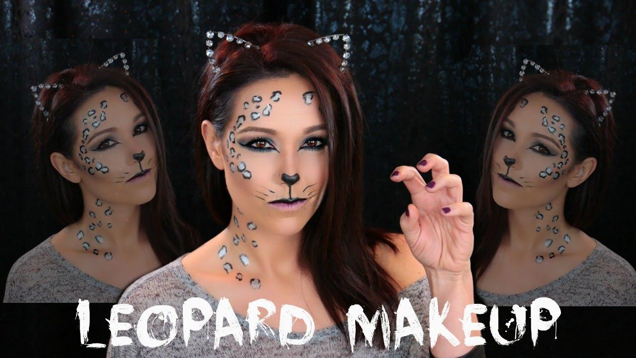 Simple LEOPARD MAKEUP| Halloween Makeup Tutorial - YouTube