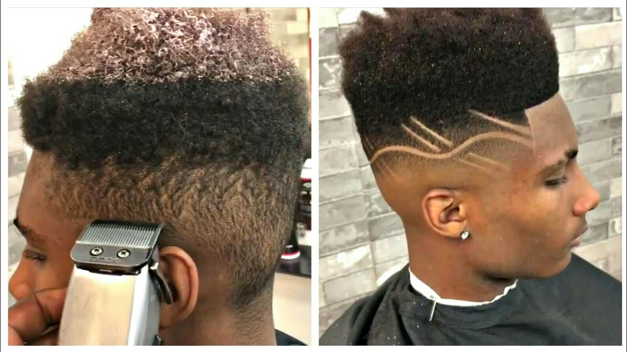high top fade with design | cut by germaine walker | afro haircut
