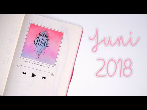BULLET JOURNAL JUNI 2018! Music theme | Mina Jacobsen