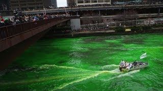 River turns green for St Patrick