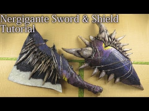 Nergigante Sword and Shield tutorial [Monster Hunter World][How to make props]