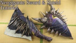 Nergigante Sword and Shield tutorial [Monster Hunter World][How to make props]