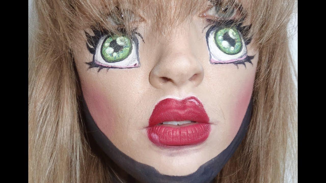 Doll Makeup tutorial! - YouTube