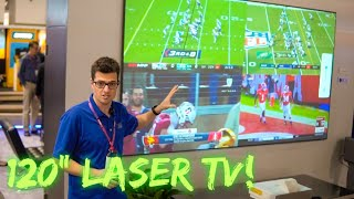"120"" TV EPSON LS-500 Laser TV Projector CEDIA Better than LG Cinebeam?!"